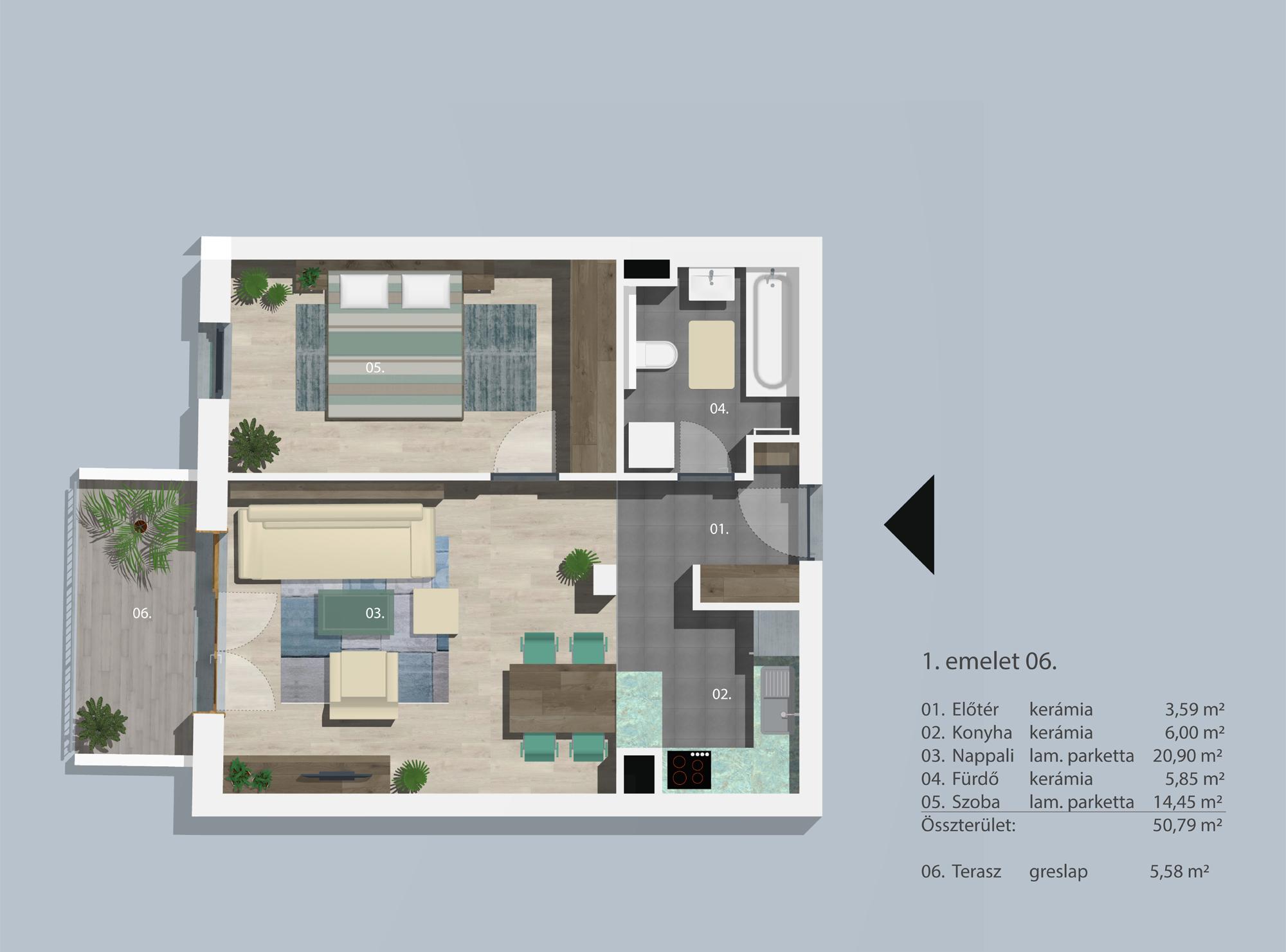 Kucsma 12 – I. emelet 6