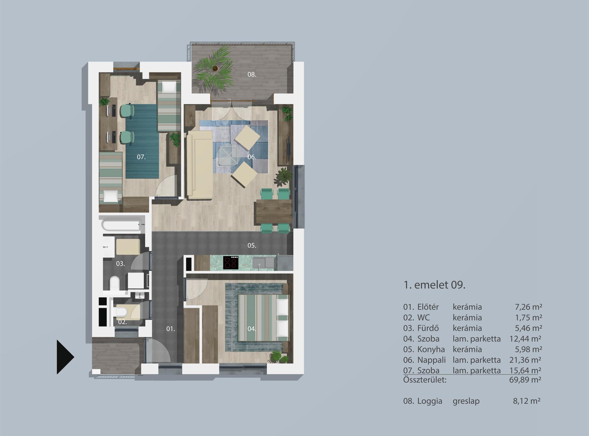Kucsma 12 – I. emelet 9
