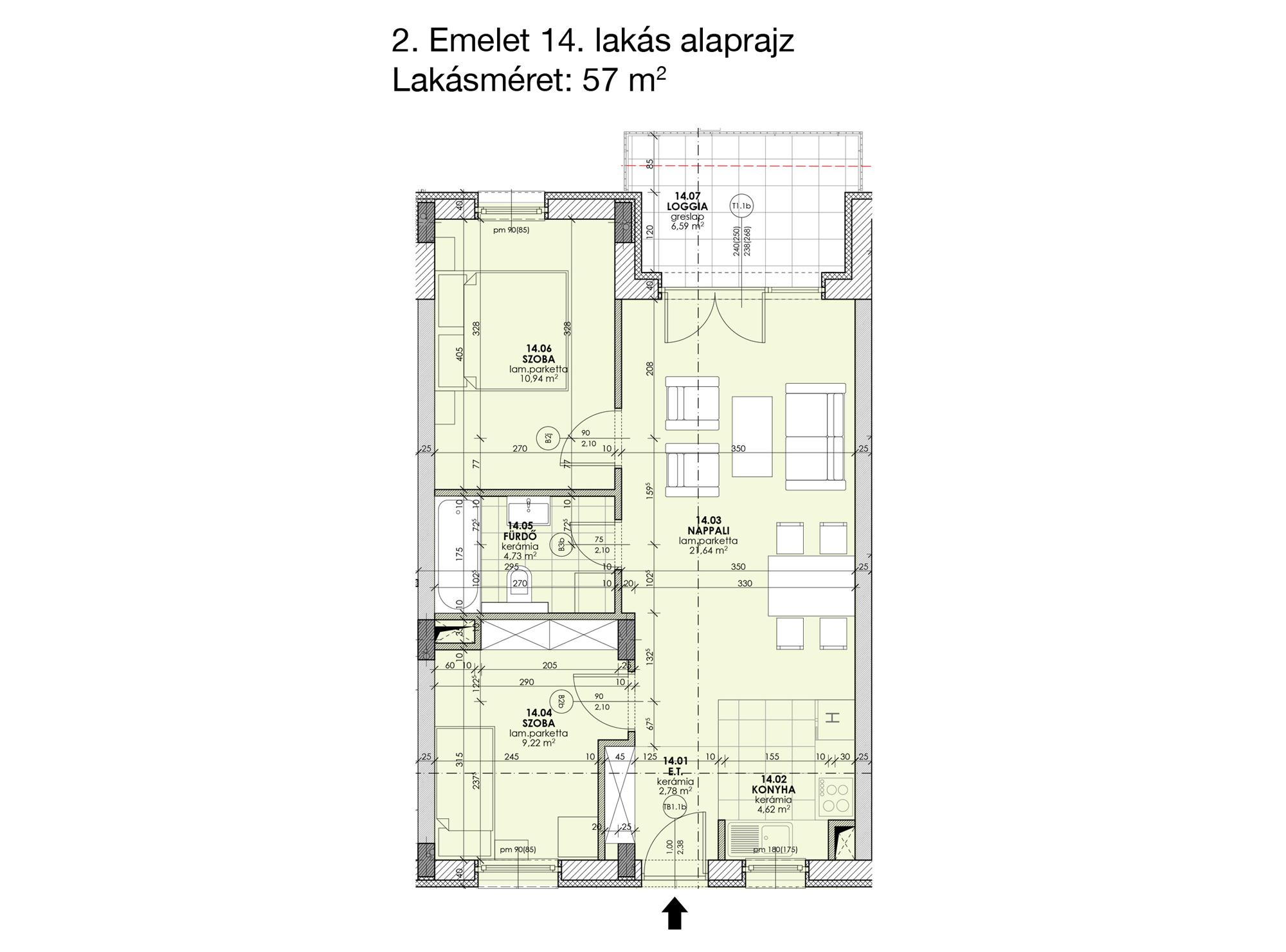 Kucsma 12 – II. emelet 14