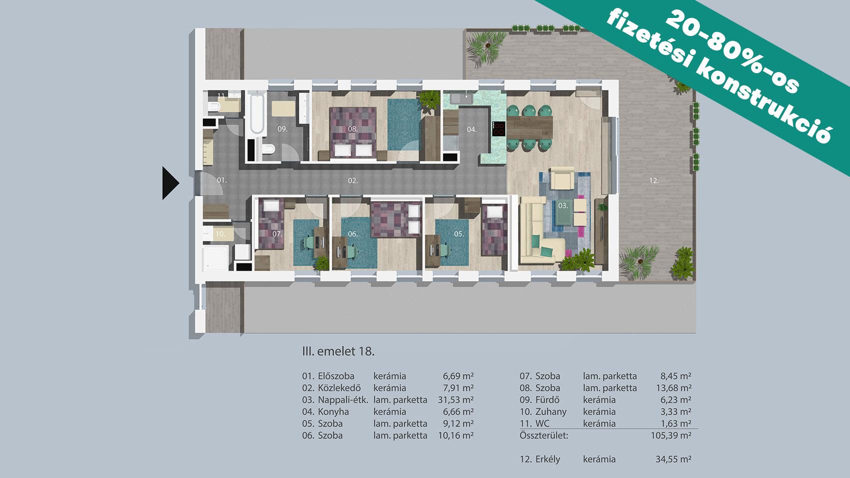 Kucsma 14 – III. emelet 18