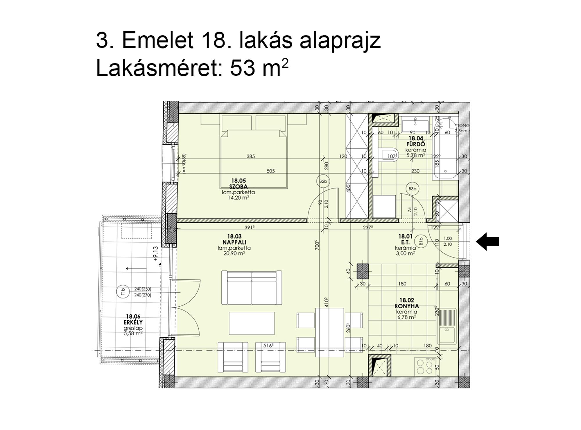 Kucsma 12 – III. emelet 18