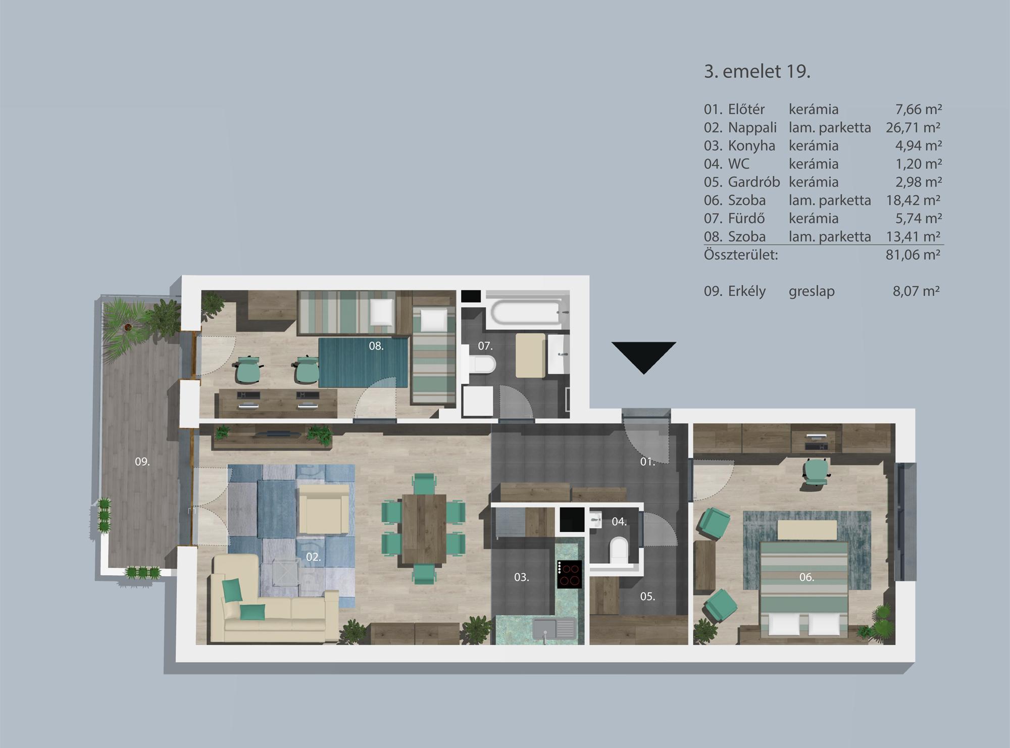 Kucsma 12 – III. emelet 19
