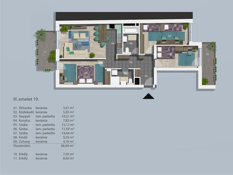 Kucsma 14 – III. emelet 19