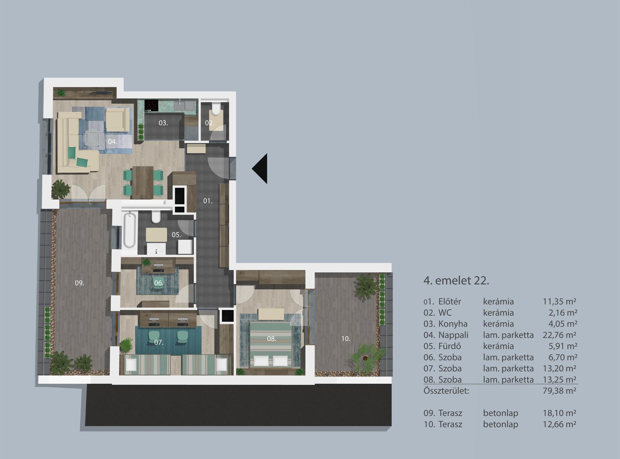 Kucsma 12 – IV. emelet 22