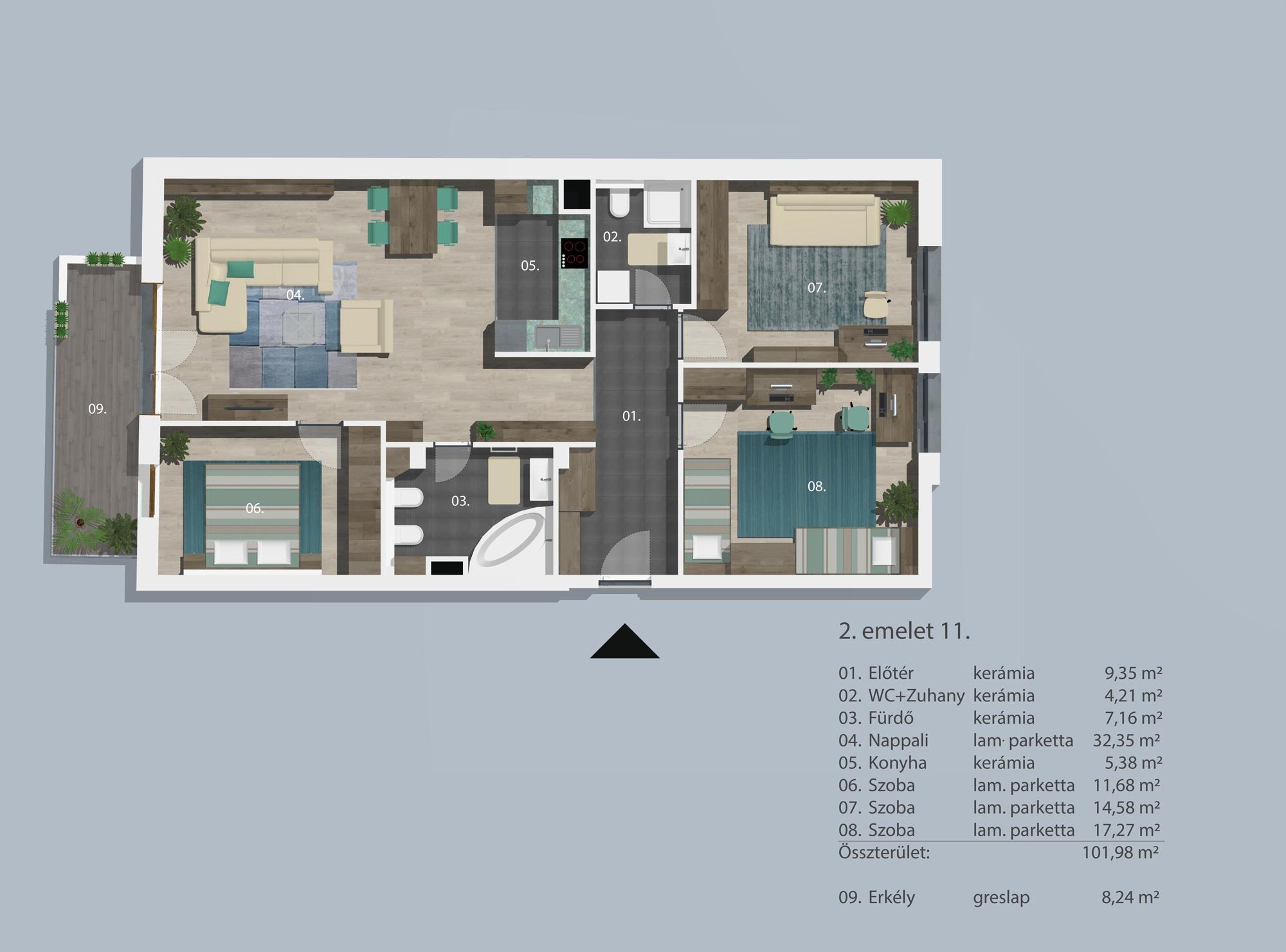 Kucsma 12 – II. emelet 11