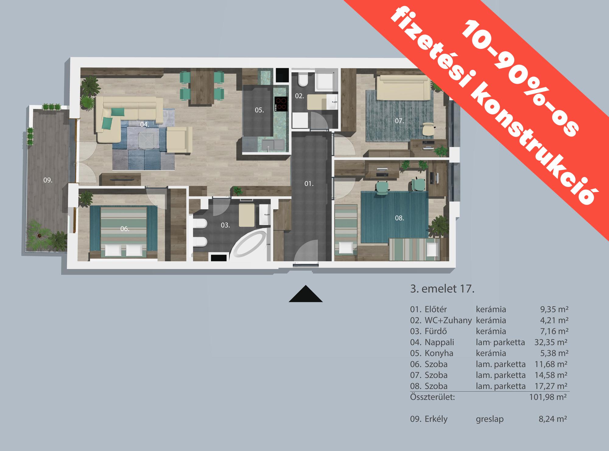 Kucsma 12 – III. emelet 17
