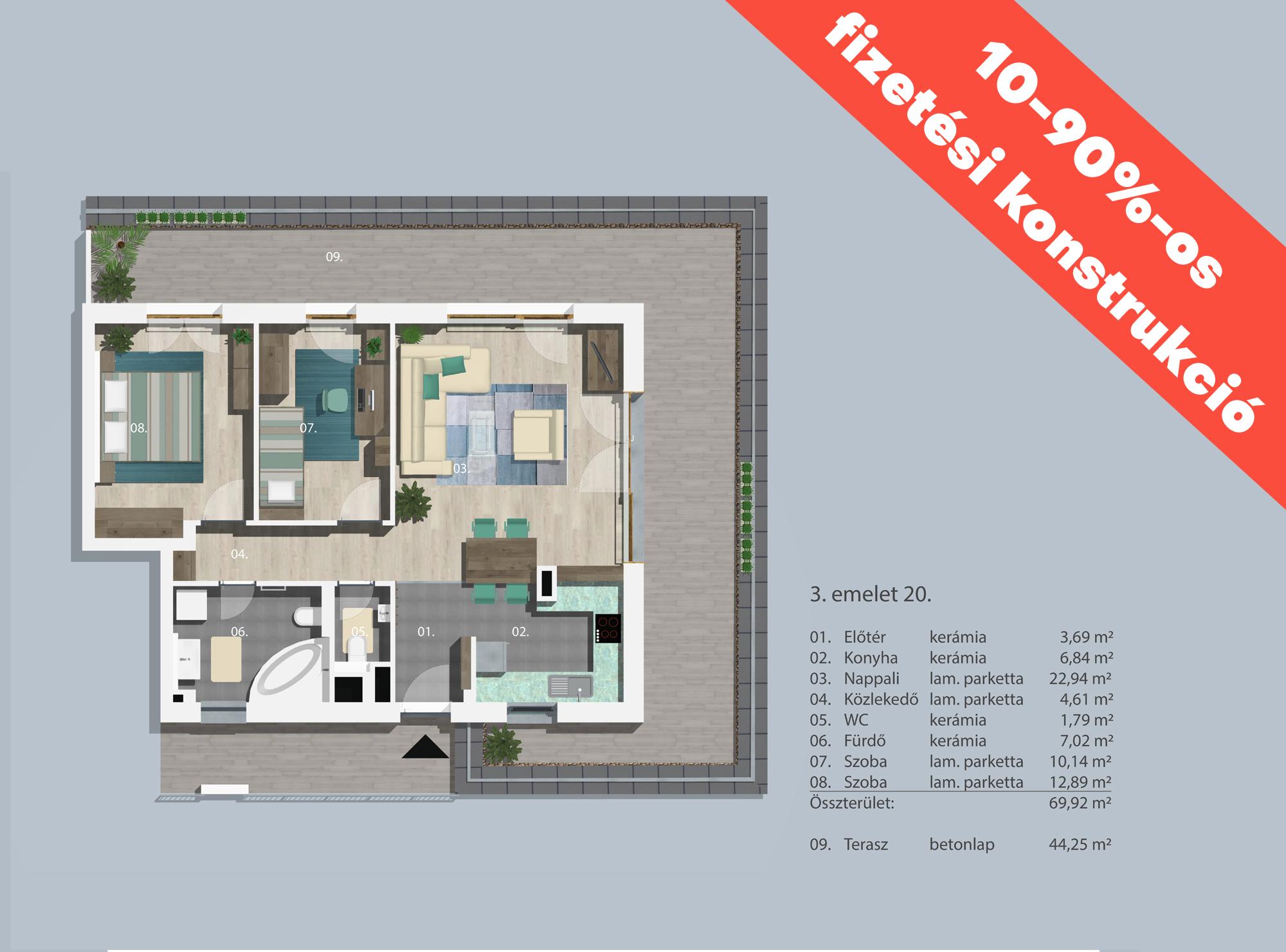 Kucsma 12 – III. emelet 20