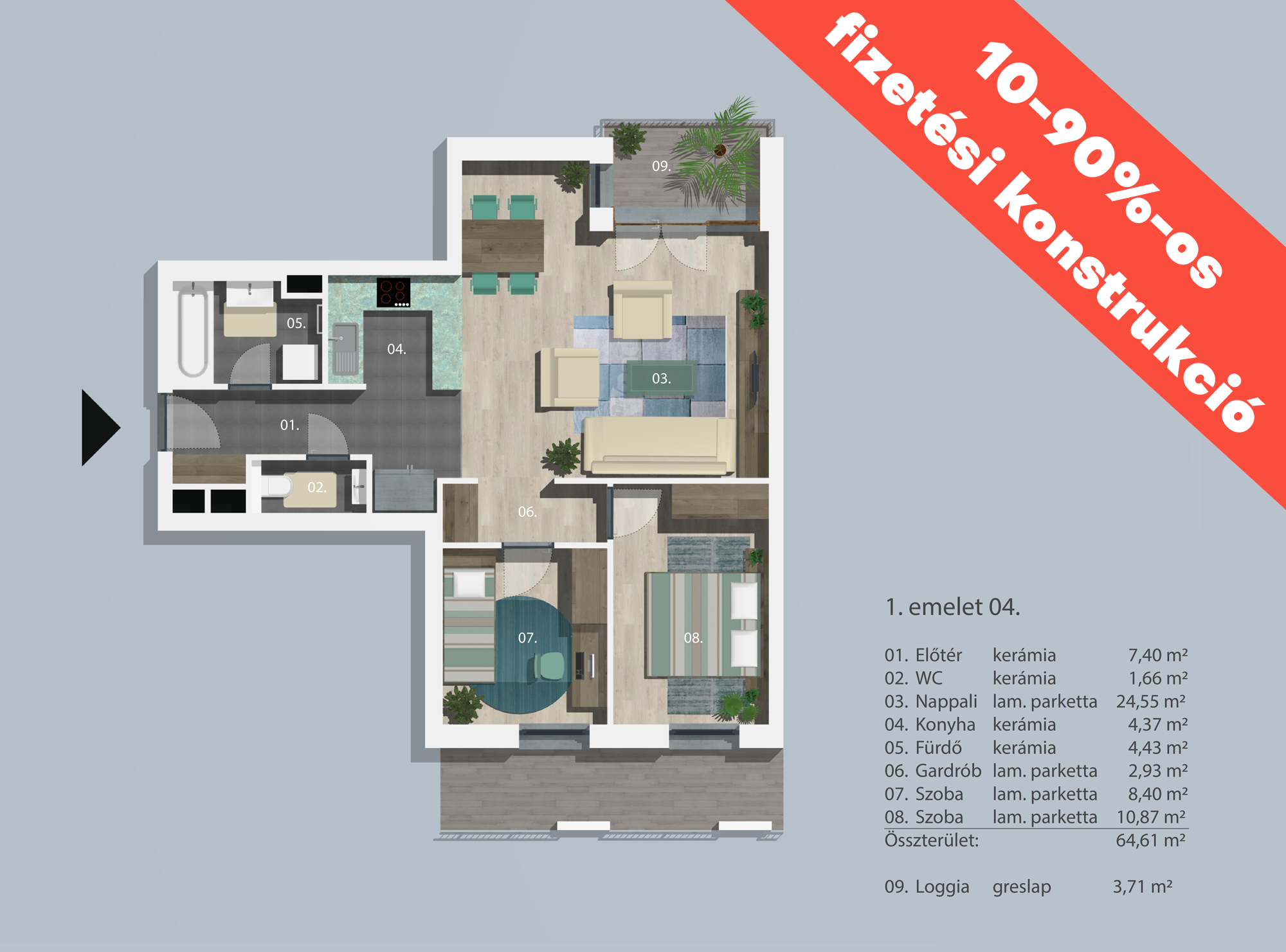 Kucsma 12 – I. emelet 4
