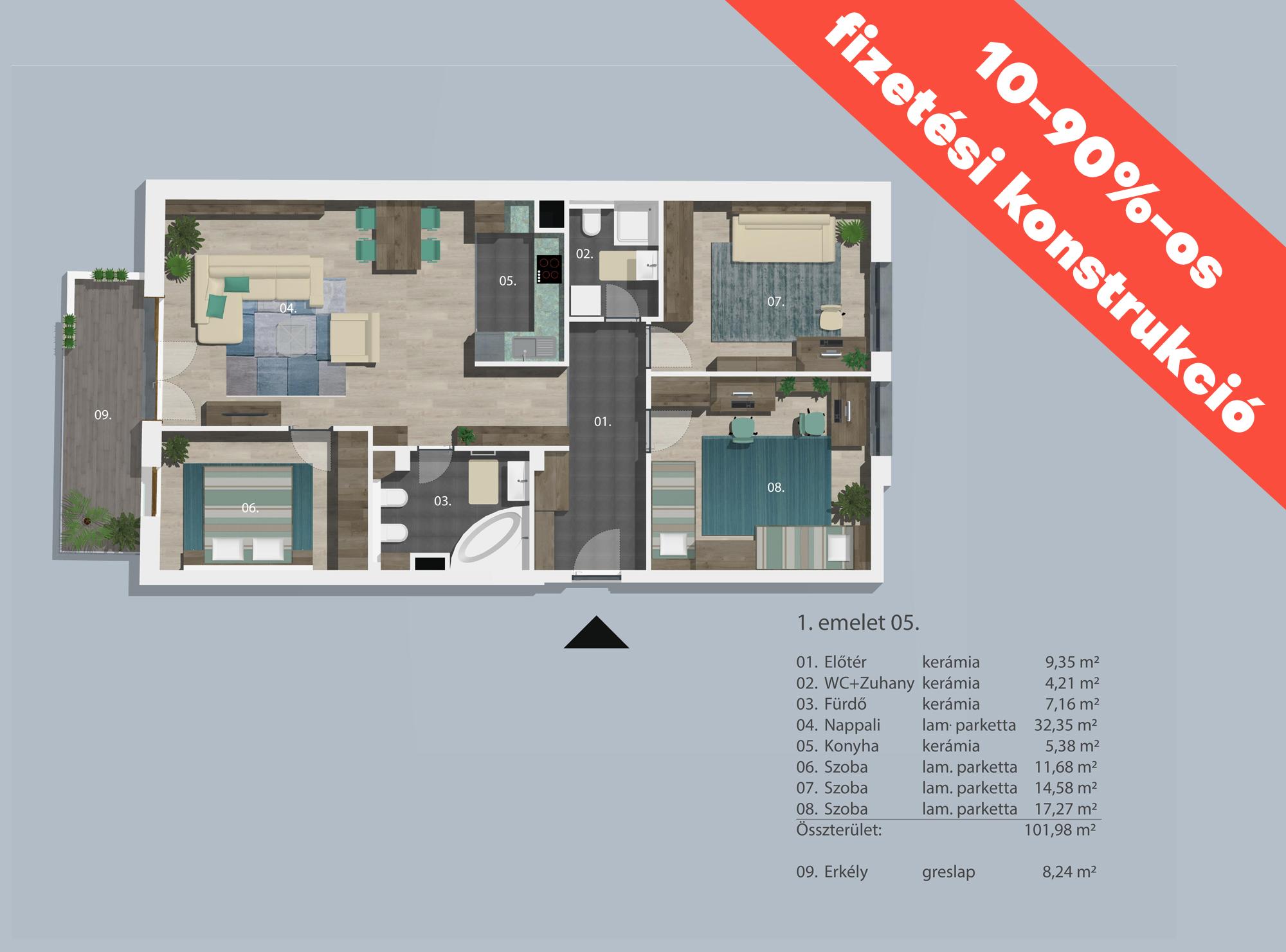 Kucsma 12 – I. emelet 5